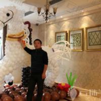 气球造型装饰布置/气球白马造型/气球马/气球造型 图片|效果图