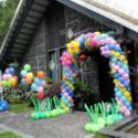 森林系宝宝宴向日葵气球图片