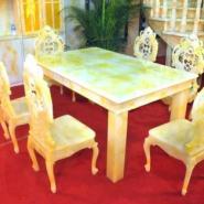 武汉玉石餐桌图片
