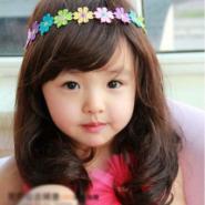供应流行元素儿童假发梨花发套2-8岁女童假发大波浪卷发中长