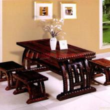 供应梧州碳化木家具厂家/户外防腐木桌椅/户外碳化木桌椅批发
