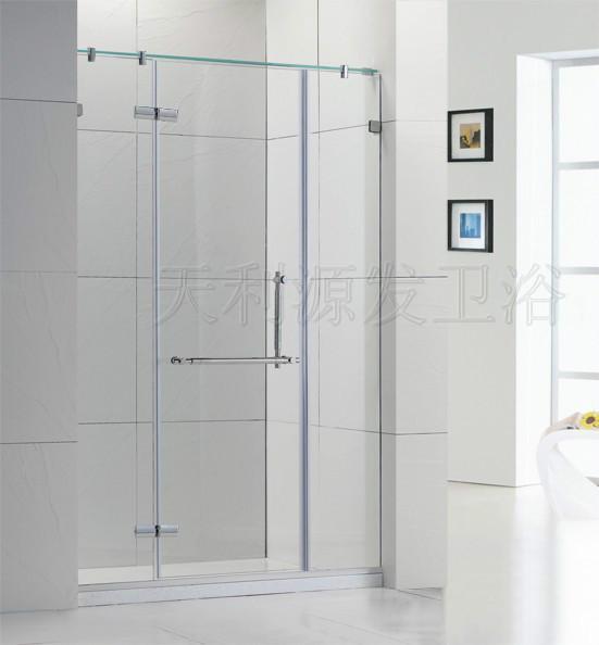 供应无框掩门两梗一活10MM淋浴房
