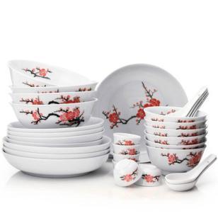 国色天香18头餐具瓷器工艺品瓷器图片