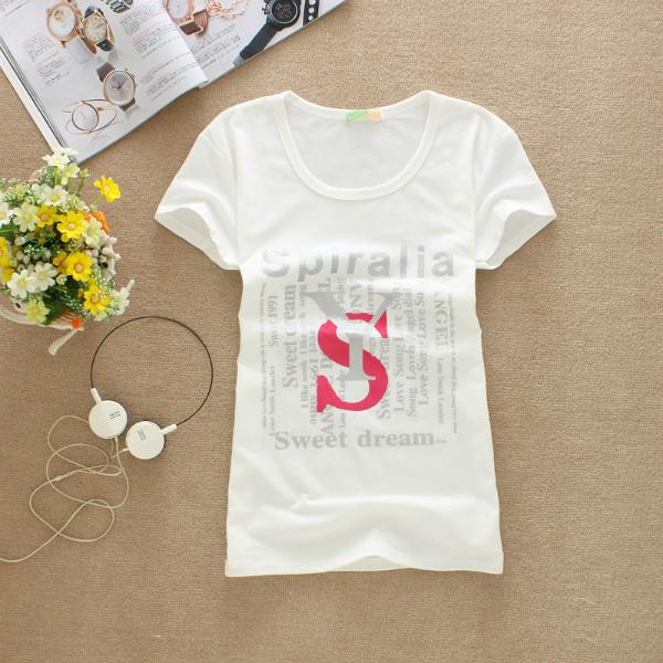 供应时尚短款T恤图片