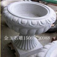 山东石雕仿古花盆图片
