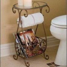 铁艺玻璃茶几杂志架纸巾架浴室架电话架批发