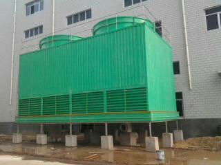 供应喷雾式玻璃钢冷却塔 YJDWL-500P无填料玻璃钢冷却塔图片