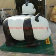 供应熊猫玻璃钢批发/熊猫玻璃钢雕塑/1.8米长1米宽1.2米高现货