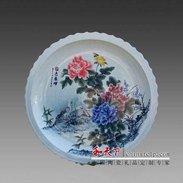 供应陶瓷纪念盘定做,景德镇陶瓷厂