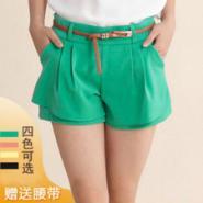 服装网热销爆款韩版雪纺两件套短裙图片