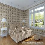 柯桥品牌墙纸欧式家装无纺布卧室图片
