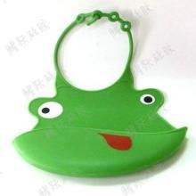 供应防水立体宝宝大号可调节硅胶围嘴 婴儿童围兜 口水巾吃饭食饭兜图片