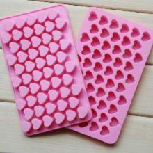 供应55连心形模具 创意冰格子 制冰盒 硅胶 冰格 小冰格冰模 冰格批发