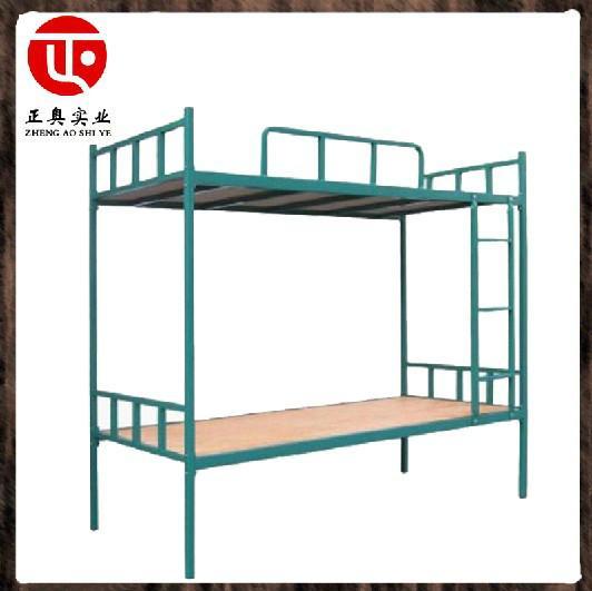供应员工宿舍双层铁架子床报价/厂家批发双层公寓床