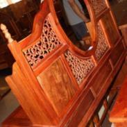 红木家具缅甸花梨木大果紫檀梳妆台图片
