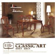 简欧现代新古典餐桌椅组合美式家具图片