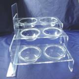 供应亚克力宠物透明食盆 压克力猫狗碗 有机玻璃动物食具