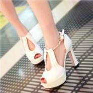 2014夏新款女鞋时尚鱼嘴鞋报价图片