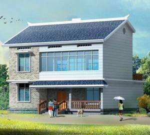 简洁农村二层别墅小洋房设计图纸图片|简洁农村二层