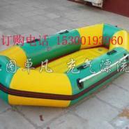充气底四人六人八人漂流艇橡皮艇船图片