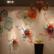 艺术玻璃背景墙隔断图片