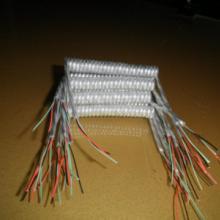 现货供应-3芯透明PU弹弓线透明卷线图片