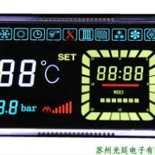 供应高档温控器VA液晶屏,黑底白字带彩色效果的液晶屏