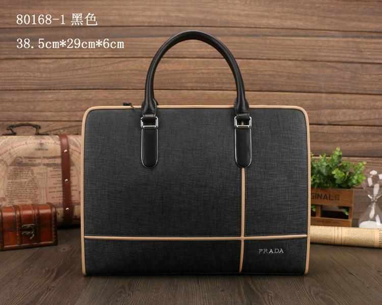 供应普拉达PR-M80168-1黑色男包图片