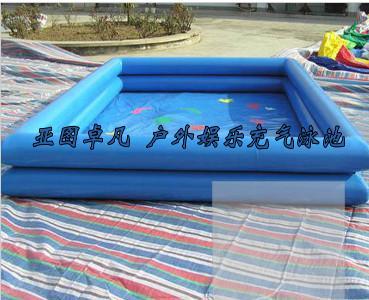 供应大型户外支架游泳池充气水上玩具