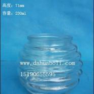 热销工艺玻璃烛台出口蜡烛杯生产商图片