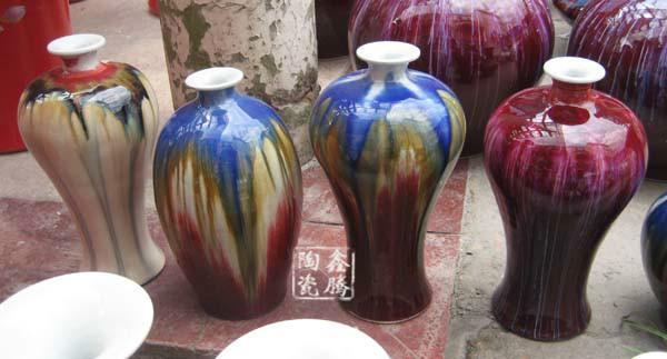 供应窑变花瓶-粉彩礼品-工艺品