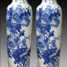 供应陶瓷大花瓶-青花瓷,青花瓷花鸟大花瓶