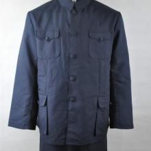 男式蓝色中山装黑色西装寿衣量身定做