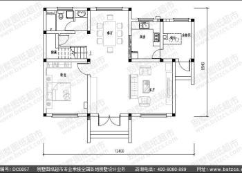 湖南两层农村别墅图纸设计dc0057报价图片