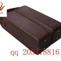 高档红红酒盒生产厂家深圳红酒木盒批发皮质红酒包装盒工厂价格