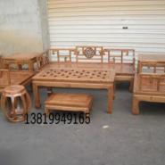古典榆木家具沙发图片
