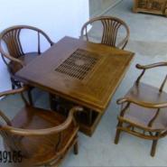 古典榆木茶桌图片