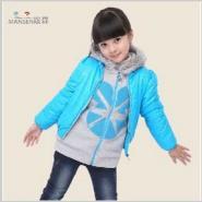 嫚森女童棉衣韩版图片