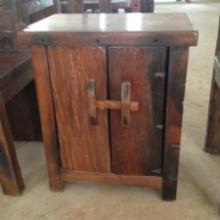 供应老船木储物柜实木床头柜简约收纳柜个性两门边柜角柜田园家批发