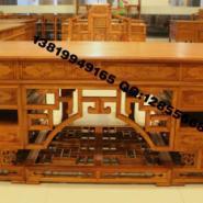 红木写字台书桌图片