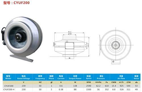 武清轴流风机轴流风机代理QF8038轴流风机中隆电器 管道式轴流风机代理