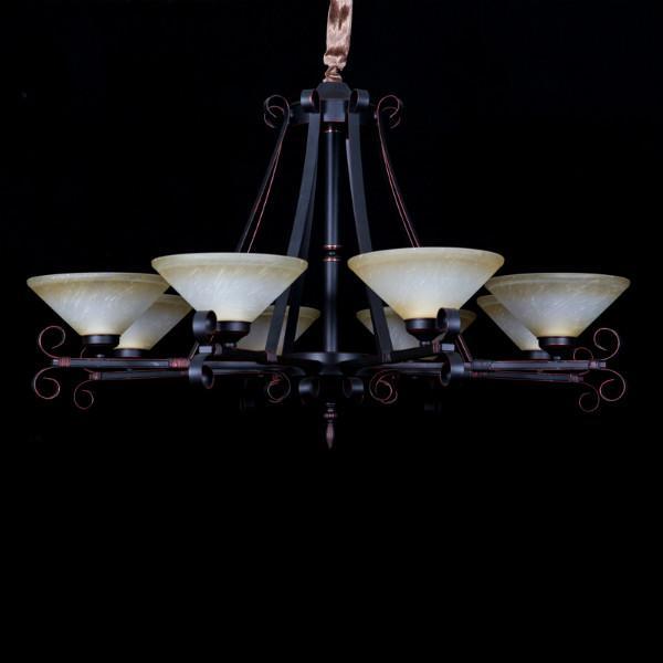 新中式简约复古铁艺吊灯图片大全