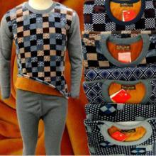 供应便宜保暖内衣货源 加绒加厚保暖内衣套装批发