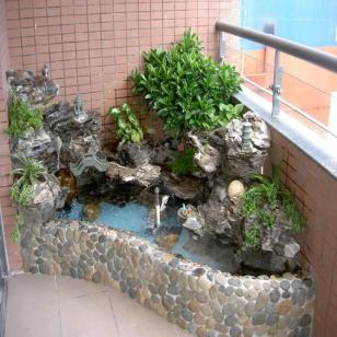 上海六灶室内假山价格图片