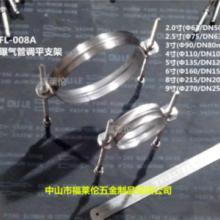 供应曝气管道调平固定支架抱箍管箍管卡双杆调平支架110规格污水池底管道调平固定图片