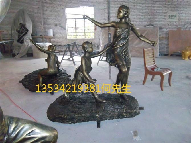 供应广场步行街玻璃钢人物雕塑摆件