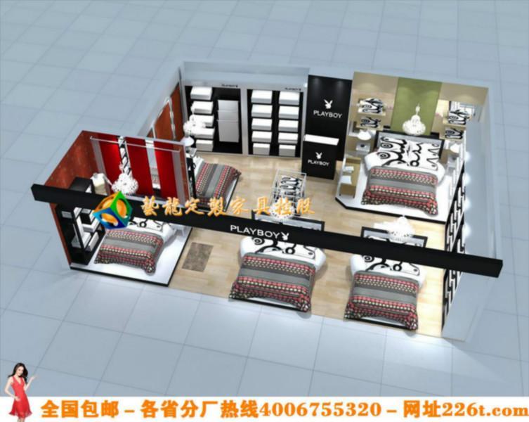 个性家纺店装修效果图大全时尚家纺展柜装修货架货柜1221图片