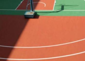 篮羽球场油漆图片