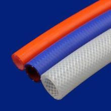 供应耐高温加强网纹硅胶编织管