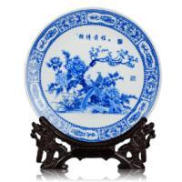 供应景德镇青花瓷纪念盘,陶瓷纪念盘